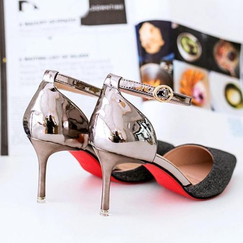 Sequins Elegant   Pointed Toe Straps Shoes