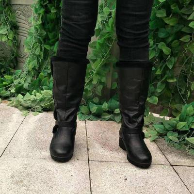 Women Plus Size Solid Low-heel Boots