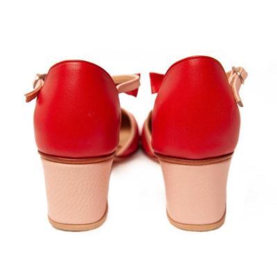 Chunky Heels Summer Color Block Elegant T-Bar Sandals