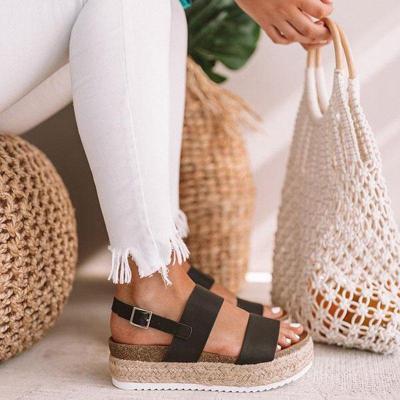 Casual Espadrille Platform Sandals