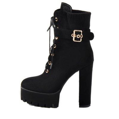 Ankle  Platform High Heel Boots