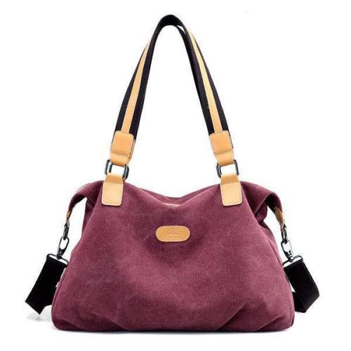KVKY Canvas Casual Large Capacity Handbag Shoulder Bag