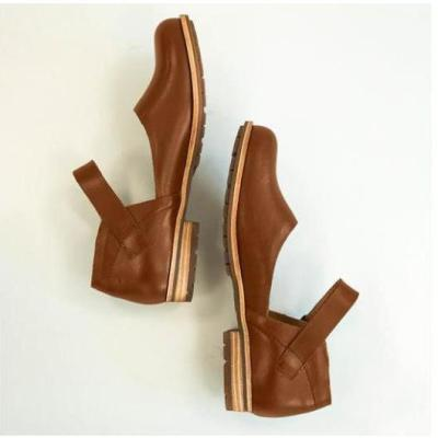 Vintage Round Toe Low Heels Buckle Atkins Classic Loafer