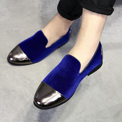 Suede Hit Color Patchwork Slip-on Shoes