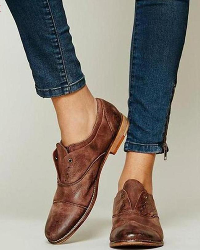 Leatherette Slip-On Ankle Bootie
