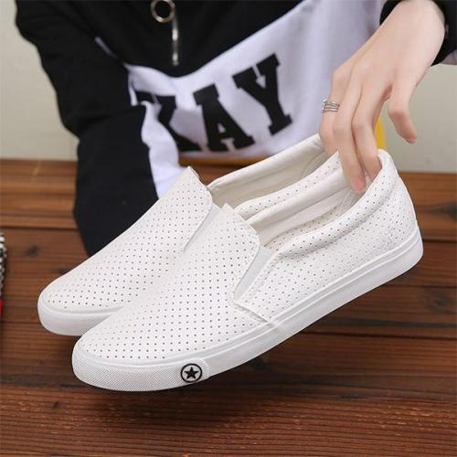Mens Slip-on Soft Sole Loafers Hollow Out Flat Shoes