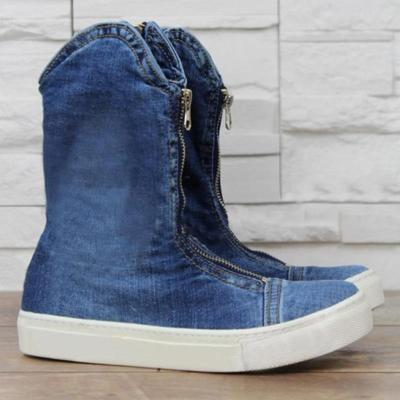 Comfy Zipper Canvas Boots Shoes