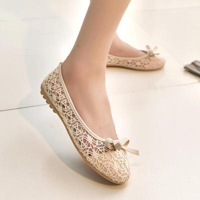 Women Loafers Lace Bow Decoration Lady Female Plus Size Flat Shoes
