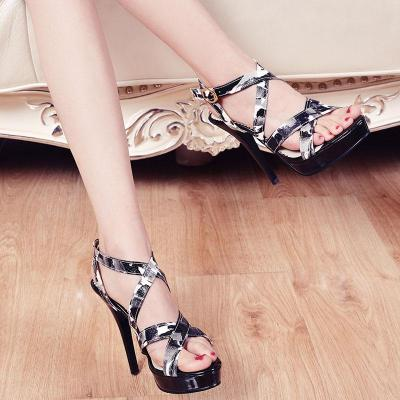Gladiator Sandals High Heels Sexy Ladies Cut Outs Roman Sandals Open Toe
