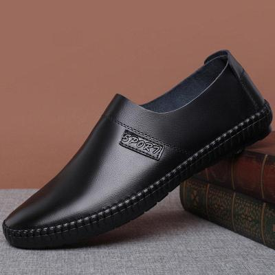 Men Pure Color Comfy Soft Sole Slip On Casual Loafers