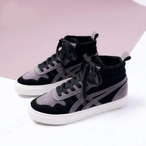 Well-ventilated Suede Flat Ankle Sneakers