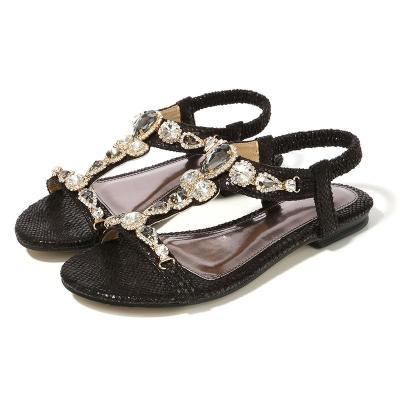 Large Women's Shoes Vintage Bohemian Rhinestone Sandals Women 2020 Sandals