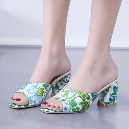 Summer Open Toe Chunky Heel Holiday Daily Heels