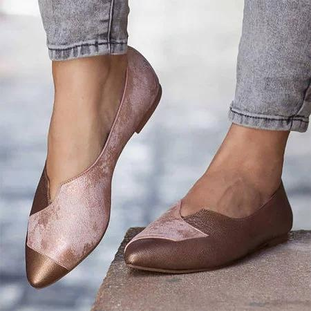 Pointed Toe Flat Daliy Summer Vintage Flats