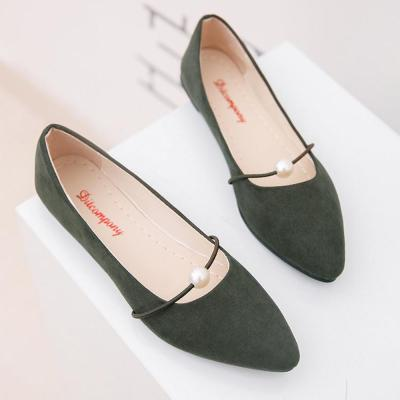 Women Flat Shoes Solid Pearl Women Boat Shoes Flat Shoes Women Pointed Toe Casual Flats