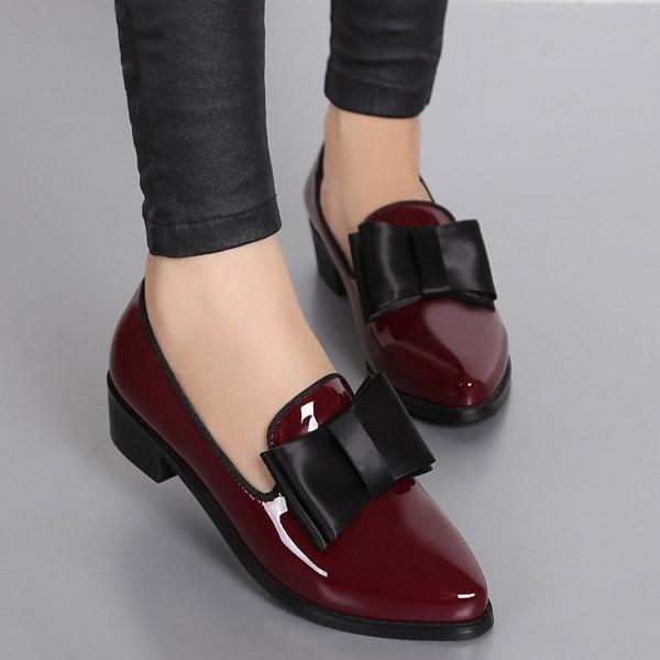 Ladies Bow-knot Oxfords Shoes