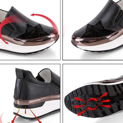 Women PU Sneakers Casual Comfort Slip On Shoes