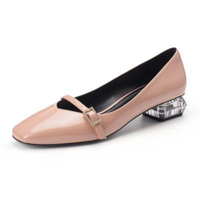 Sweet Mary Jane Summer Chunky Heel Square Toe Shoes