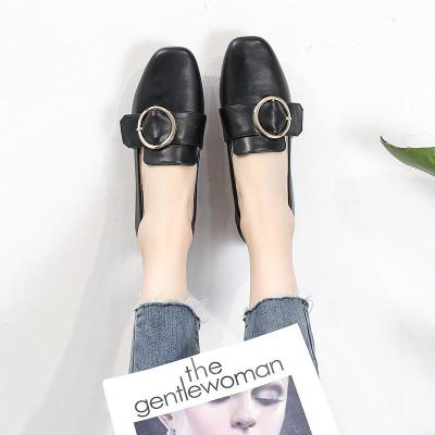 Shoes Women's 2020 Small Leather Flat-bottomed Single Shoe