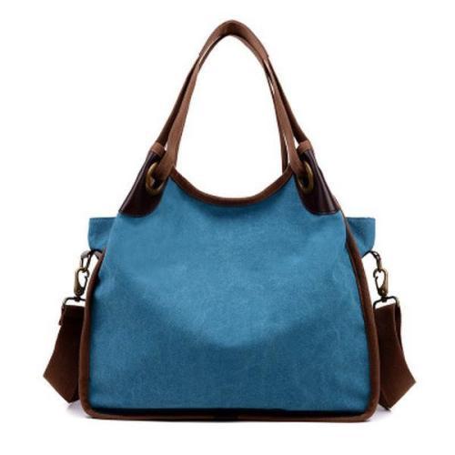 Large Capacity Canvas Handbag Shopping Travel Bag
