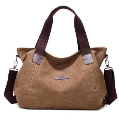 Canvas Large Capacity Handbag Casual Crossbody Bag