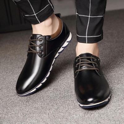Mens Pure Color Slip Resistant Soft Business Casual Driving Shoes