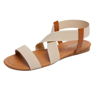 Retro Beach Sandals For Women Shoes Low Heel Anti Skid Rome Style Shoes Peep Toe Fashion