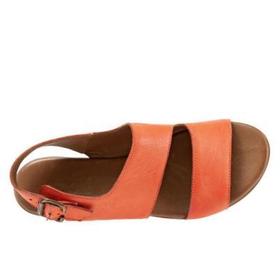 Summer Band Peep-Toe Plus Size Flat Mule Sandals