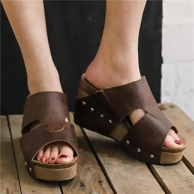 Wedge Heel Peep Toe Sandals