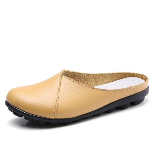 Ballet Summer Women Genuine Leather Flat Flexible Loafer Flats flip flops