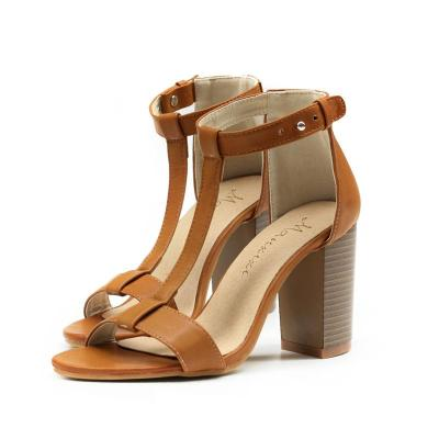 Cross Border High Heels Women's Shoes Large with Chunky Heel Sandals Fashionable and Versatile