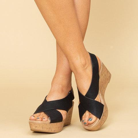 Summer High Wedges Platforms Hook&Loop Sandals
