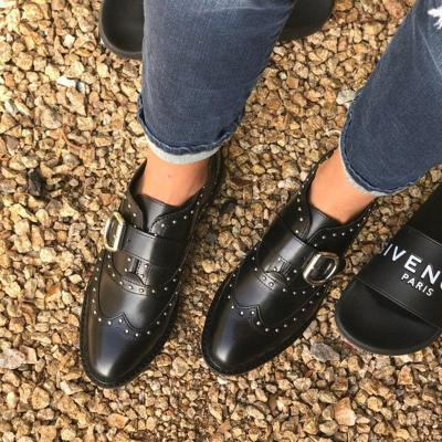 Comfy Buckle Strap Round Toe Flat Loafers