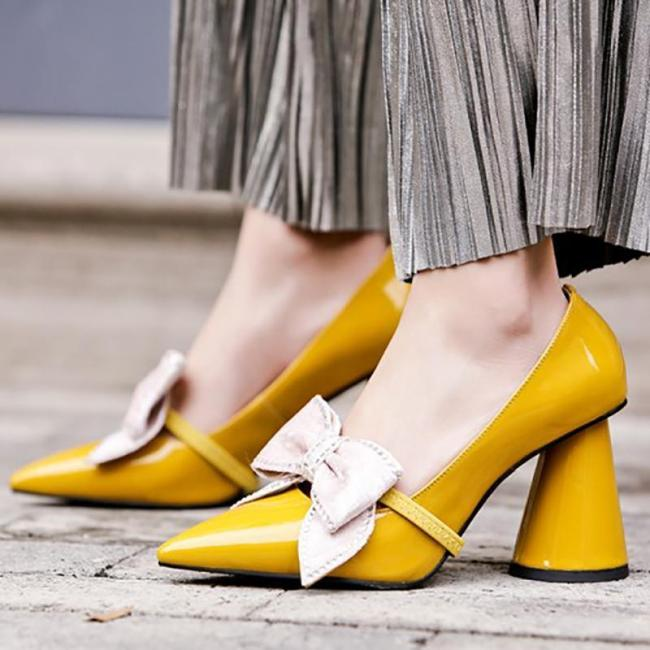 Genuine Leather Spring/fall Chunky Heel Date Shoes