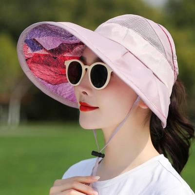 Hat Women's Summer Vacation Sunshade Hat UV Resistant Foldable Sun Hat Sky Top Sun Hat