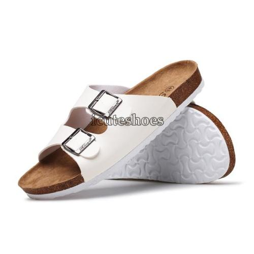 Beach Cork Slippers Sandals Casual Double Buckle Clogs Sandalias