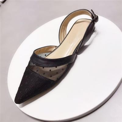 Fashion Buckle   Breathable Mesh Flat Shoes