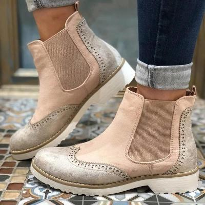 Boot Split Joint Slip-On Ankle Boots