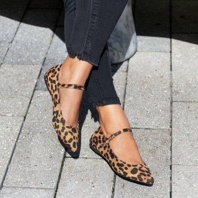 Emma Pointy Toe Black Flats