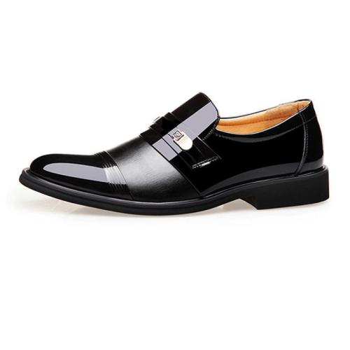 Fashion Business Plain Leather Men Shoes