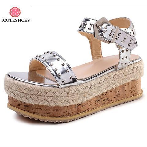 New Women Wedge Heels Gladiator Sandals Classic Ladies High Heels Platform Footwear