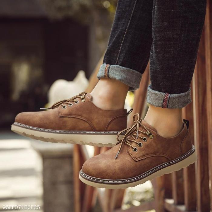 Fashion Casual England Leather Blinding Mens  Shoes