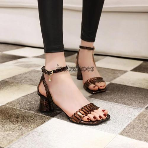 Sandals Women's Chunky High Heel New Open Toe Sandals Women