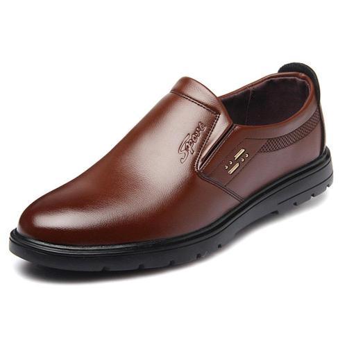 Men Pure Color Slip Resistant Slip On Casual Shoes