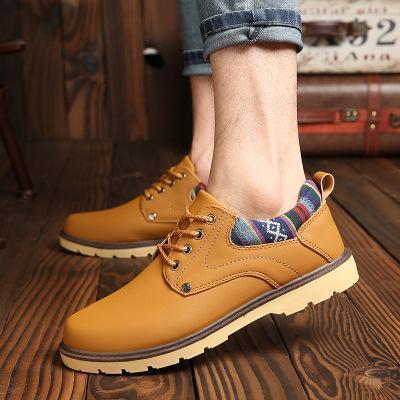 Mens Waterproof Low Top Cargo Shoes Casual Flats