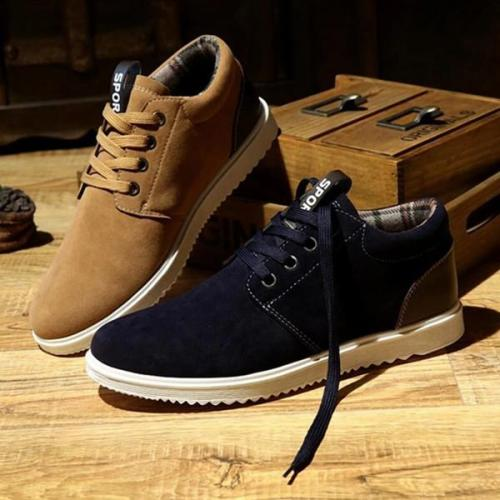 Mens Casual Fashion Thick Warm Flats