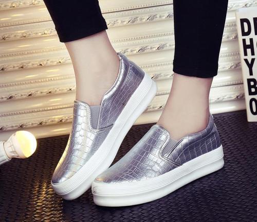 Women's Slip-On Round Toe Fashion PU Loafers
