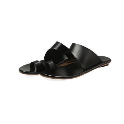 Simple Slip-On Flat Slippers