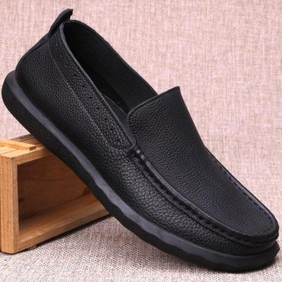 Solid Round Toe Sewing Thread Casual Loafer