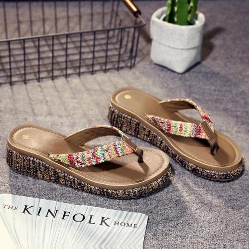 Chic Flip Flops Boho Flat Sandals